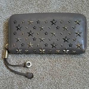 Jimmy Choo Star Studded Zippy Wallet